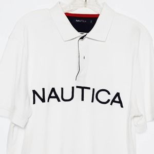 Men's Nautica Logo Collared Shirt Casual Large